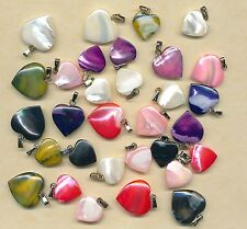 30 Mother of Pearl hearts    (Y31)