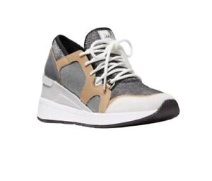 Michael Kors Liv Trainer Glitter Chan Sneaker Shoes Anthracite