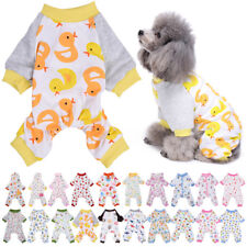 Puppy Pajamas Cotton Small Pet Dog Cat Jumpsuit Warm Indoor Home Costume Clothes