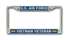 Air Force Vietnam Veteran With Ribbons Car or Truck License Plate Frame