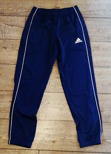 Adidas Mens/teens Navy Track Pants Size Small
