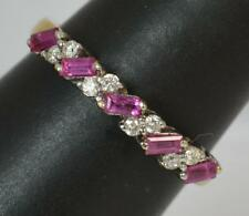 Beautiful 18ct Gold Ruby & Diamond Ladies Half Eternity Stack Ring D0290