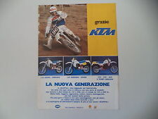 advertising Pubblicità 1984 MOTO KTM CROSS ENDURO 125/250/600