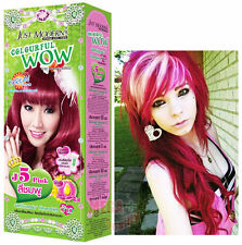 WOW Hair Color Permanent Hair Cream Dye Cosplay Toner Punk Emo Goth Magenta Pink