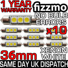 10x 3 SMD LED 36mm 239 272 Canbus Errore Bianco Targa Luce Festoon BULB UK