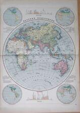 1800 1899 Antique World Maps New Ebay