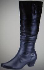 Damen Stiefel schwarz Leder  Gr. 37 Marco Tozzi