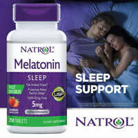 Natrol Melatonin 5 mg Fast Dissolve 250 Tablets-Strawberry Flavor