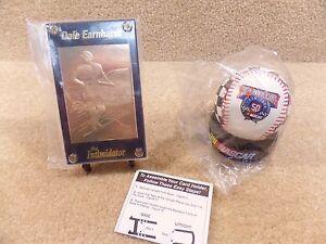 New 1998 NASCAR Dale Earnhardt Sr 22 Karat Gold Sports Quest Card w/ Baseball