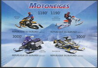 BURUNDI 2012 Imperf 4v SS, Snowmobile, Transport  (d7u)
