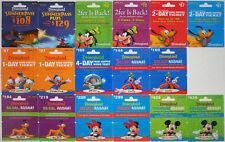 17 Different DISNEYLAND Passport Disney Gift Cards 2010: Fantasmic, Mickey++(+4)