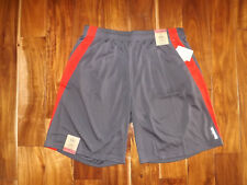 Nwt Mens Reebok Dark Gray Red Exercise Athletic Shorts Size Xl X-Large