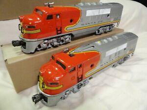 Lionel Original 2343 Santa Fe  F3, A & B Made in 1950 W/ Boxes Like 2333 & 2353