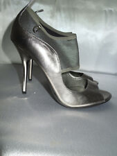 GuessBY Marciano Women's Silwer Heels Open Toe Shoes Size 8 1/2 M