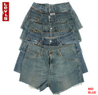 LEVIS DENIM SHORTS WOMEN'S VINTAGE HIGH WAISTED HOTPANTS GRADE B 6 8 10 12 14 16