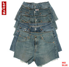 LEVIS DENIM SHORTS WOMEN'S VINTAGE HIGH WAISTED HOTPANTS GRADE B