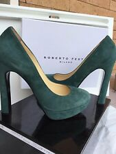 Scarpe  Italian  Shoes  ROBERTO FESTA  Woman, green olive color, size  40, suede