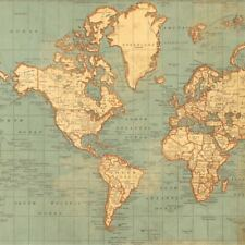 Vintage World Map Globe A4 Edible Icing Sheet