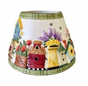 Yankee Candle Jar Shade Birdhouse Medium Ceramic Topper Beehive Flowers Mailbox