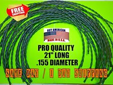"""(12) .155 X 21"""" Professional Commercial Trimmer Line Cord Walk Behind Mower"""