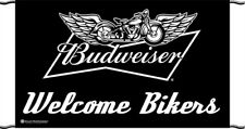 New Budweiser Welcome Bikers 5'X3' Outdoor Banner
