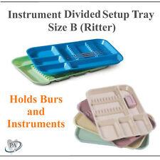 DENTAL INSTRUMENT SET UP TRAY INCLUDES BUR HOLDER SECTION (Choose Color) SIZE B