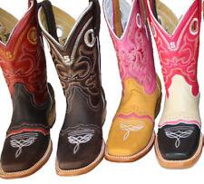 Para mujer Roper de artesanía Botas De Vaquero Oeste Rodeo Motociclista Polluelo Talla 5-10