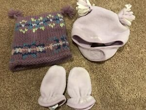 Baby Gap Knit Winter Hat Old Navy Fleece Hat And Mittens 12 To 24 Months