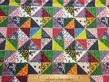 Vintage Cotton Fabric 40s50s CUTE Faux PinWheels Pattern 35w 1yd