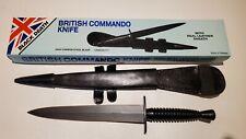 NEW OLD STOCK BRITISH COMMANDO KNIFE & SHEATH ORIGINAL BOX - Reproduction!