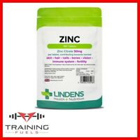 Lindens Zinc Citrate 50mg 100 Tablets, Skin, Hair, Nails, Bones, Immune System