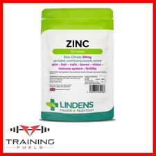 Lindens Zinc Citrate 50mg 100 Tablets, Skin, Hair, Nails, Bones, Immune System