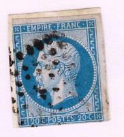 EMPIRE  N°14 A ( BLEU) oblitéré  K bureau de quartiers de Paris
