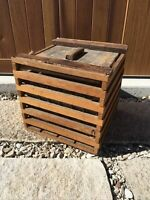 Antique Wooden Egg Carrier Crate Vintage Wood Slat Box Primitive Country Farm