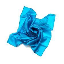Nickituch Seidentuch blau blautürkis 100% reine Seide 55x55cm