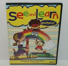 See and Learn, Colors (Dvd, 2006) PreSchool/Kindergarten Great for Easy Learning