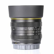 kamlan 50mm F1.1 APS-C Large Aperture Manual Focus Lens for Canon N1 Mount