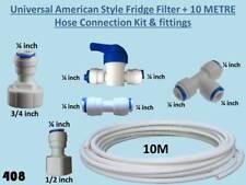 Universal American Fridge Water Filter Plumbing Connection Kit + 10m Tubing 408