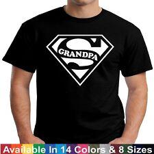 SUPER GRANDPA Funny Dad Papa Fathers Day Birthday Christmas Gift Tee T Shirt