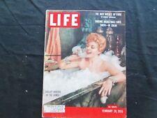 1955 FEBRUARY 28 LIFE MAGAZINE - ACTRESS SHELLEY WINTERS - L 944