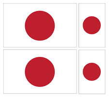 4 X JAPANESE JAPAN FLAG VINYL CAR VAN IPAD LAPTOP STICKER