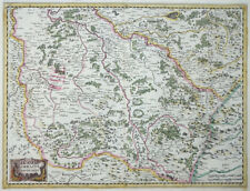 MERCATOR HONDIUS FRANKREICH LOTHRINGEN GEGEN MITTAG LORRAINE VERS LE MIDY 1631
