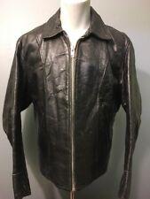 Vtg 40s 50s Black Leather Jacket Mens 42 Biker Motorcycle Work Bomber Rockabilly