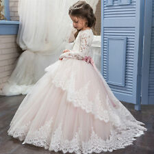 Long  Dance Flower Girl Kids Party Prom Ball Gowns Wedding Formal Pageant Dress