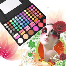 78 Couleurs Eye Shadow Cosmetic Make Up Palette Gloss à lèvres miroir Blush Set Kit QT