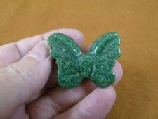 (Y-But-570) Green Jasper Butterfly stone figurine gemstone carving butterflies