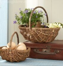Shabby Chic Pair Of Willow Baskets