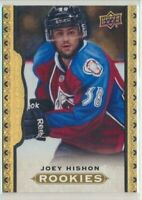 2014-15 Upper Deck Masterpieces Black Framed Leather ROOKIE 177 Joey Hishon /50