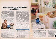 PUBLICITE ADVERTISING 114 1984 TELETEL  mon compte bancaire (2 pages)