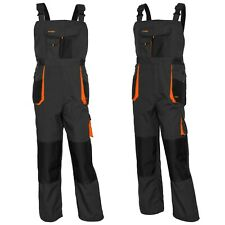 Classic Bib and Brace Overalls, Multipockets, Strong, Knee Pad-VARIOUS COLORS